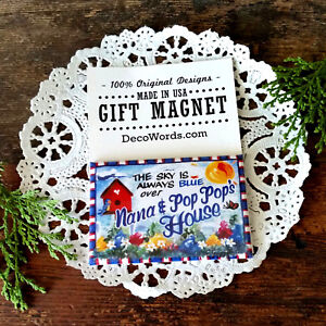 DecoWords-Gift-Magnet-Nana-Pop-Pop-039-s-We-have-ALL-Relatives-Available-New-USA