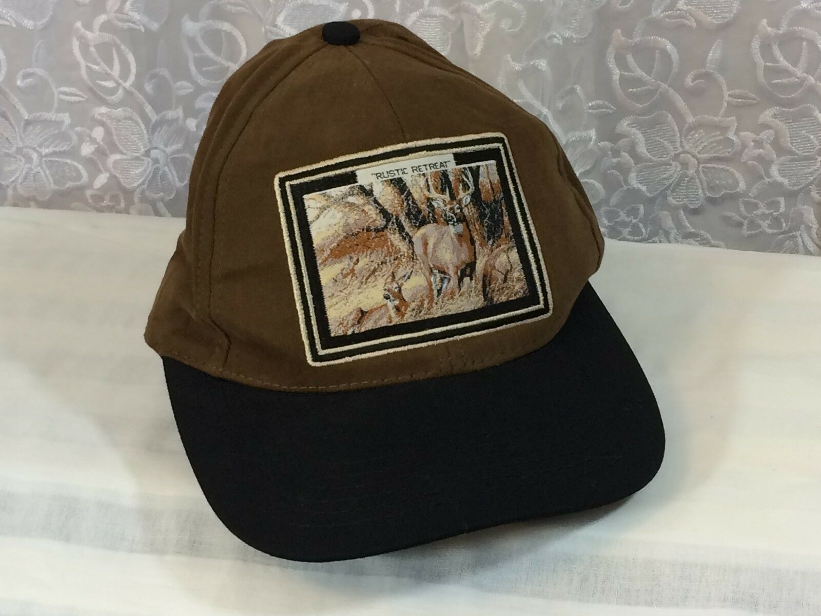 Deer Buck Head Patch Size Cap Baseball Hat One Size Patch Hunting Fishing Adjustable USA 25e261