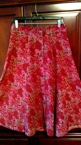 Christopher and Banks Skirt 6 Boho Hippie Paisley