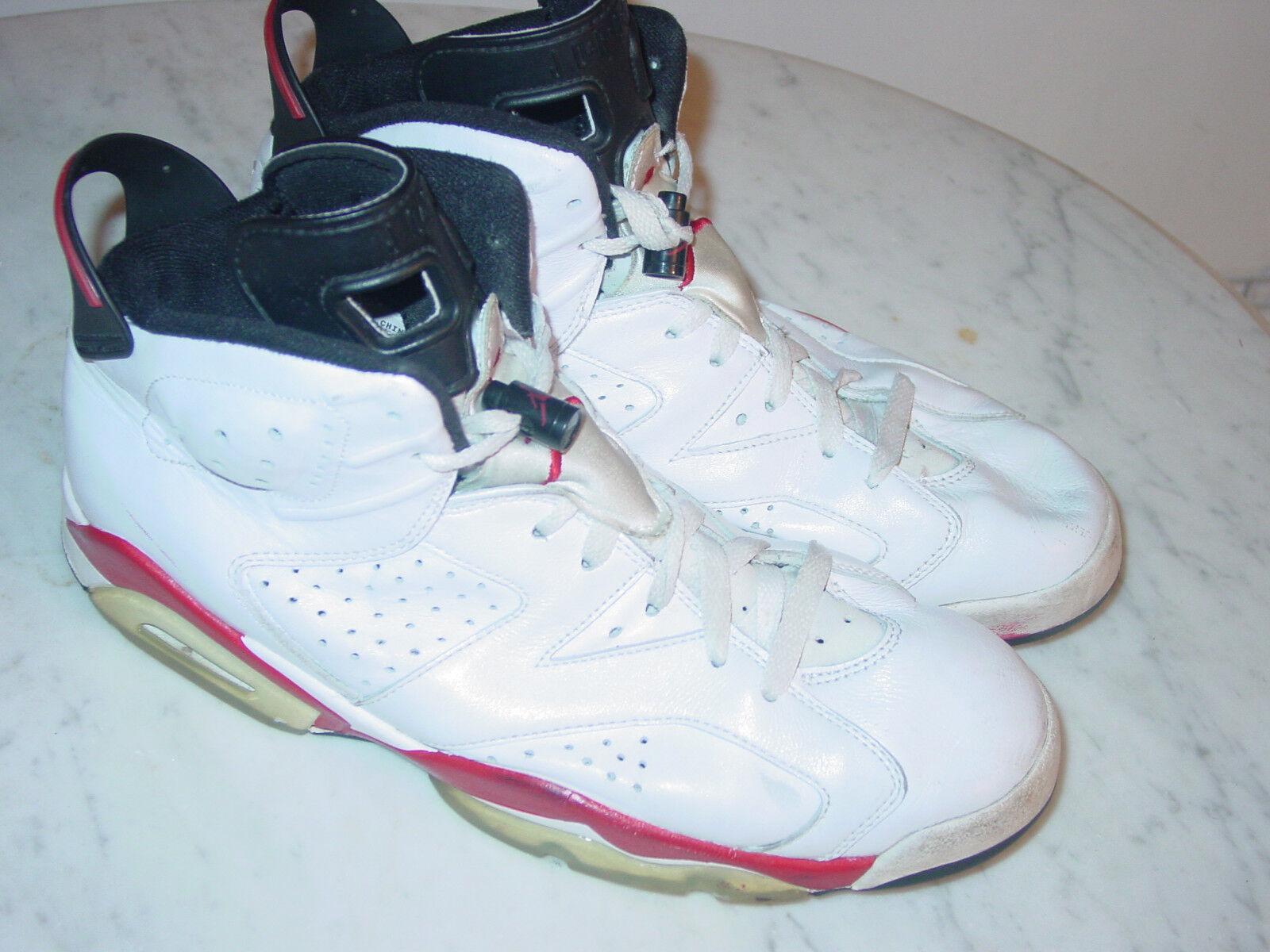 2009 Nike Air Air Air Jordan Retro 6  Bulls  White Varsity Red shoes Size 11 Sold As Is  b76b7d