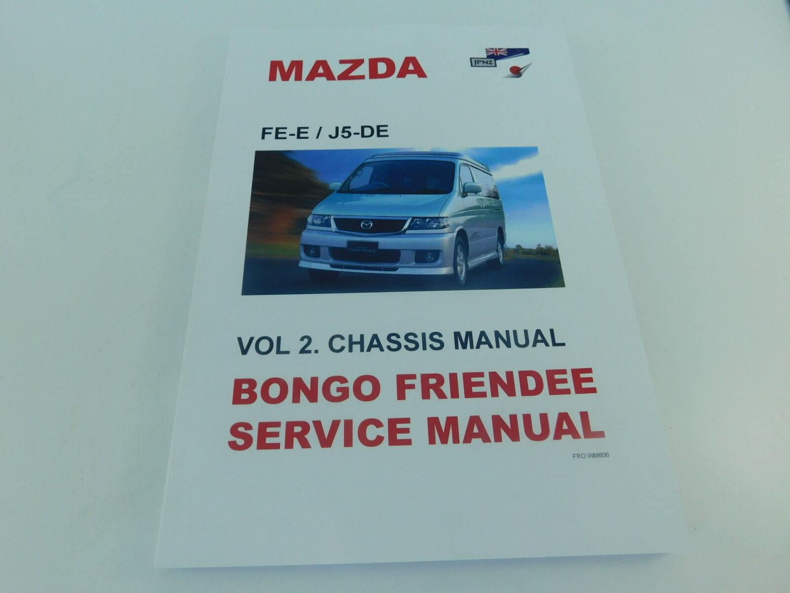MAZDA Bongo 2.0i//2.5i 1995-2006 WORKSHOP MANUALE DI SERVIZIO gratuito Electrics CD