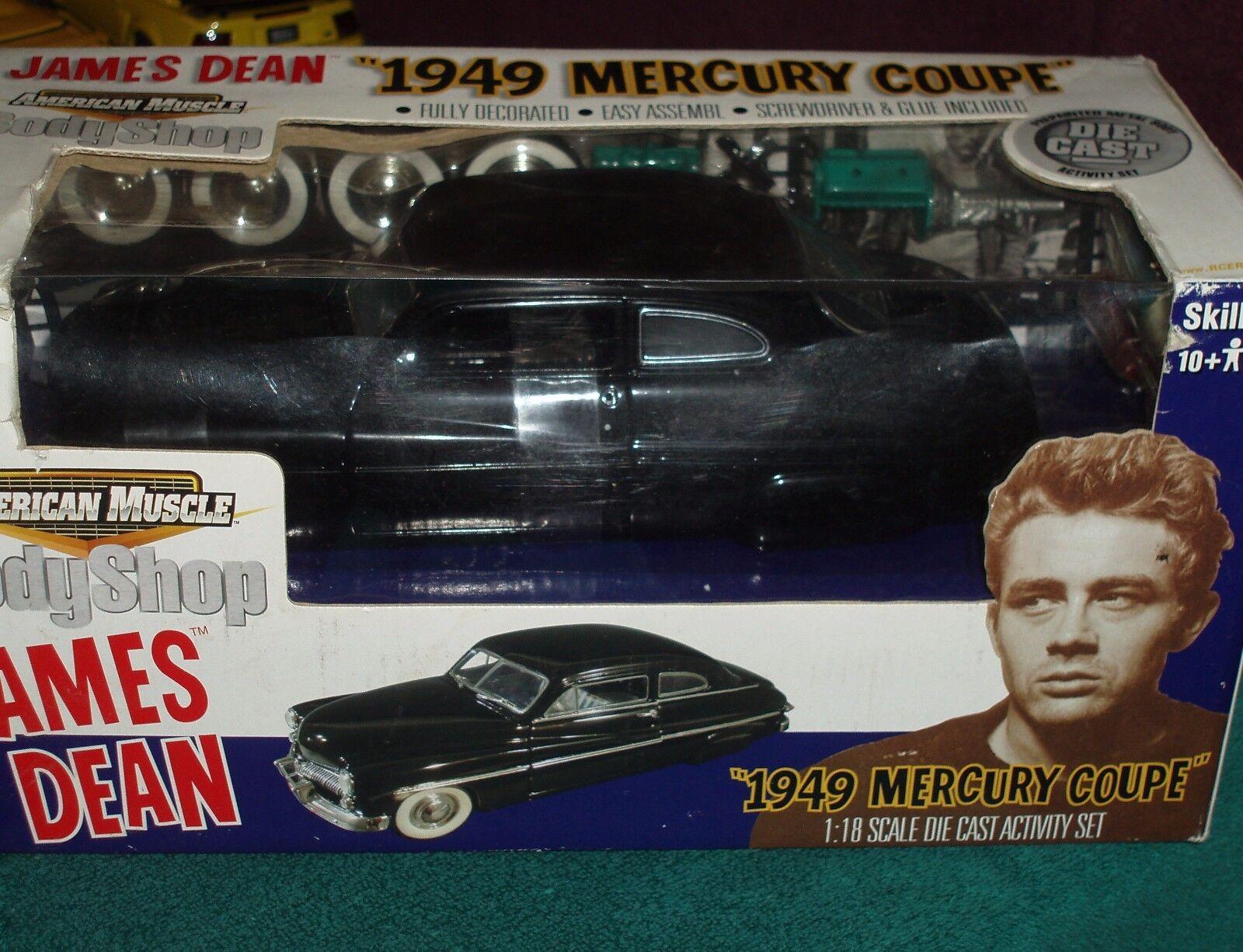 James Dean 1949 Mercury Coupe  Body shop  Assemblée modèle kit 1 18 Très difficile à trouver