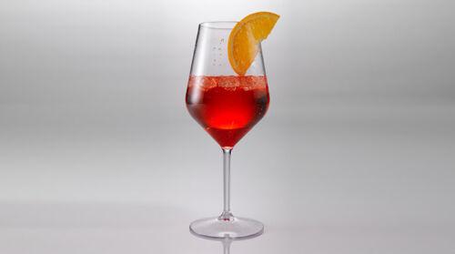 Weinglas Mehrweg Kelchglas 6 x Mehrwegbecher Garten Outdoor Picknick Aperol 4