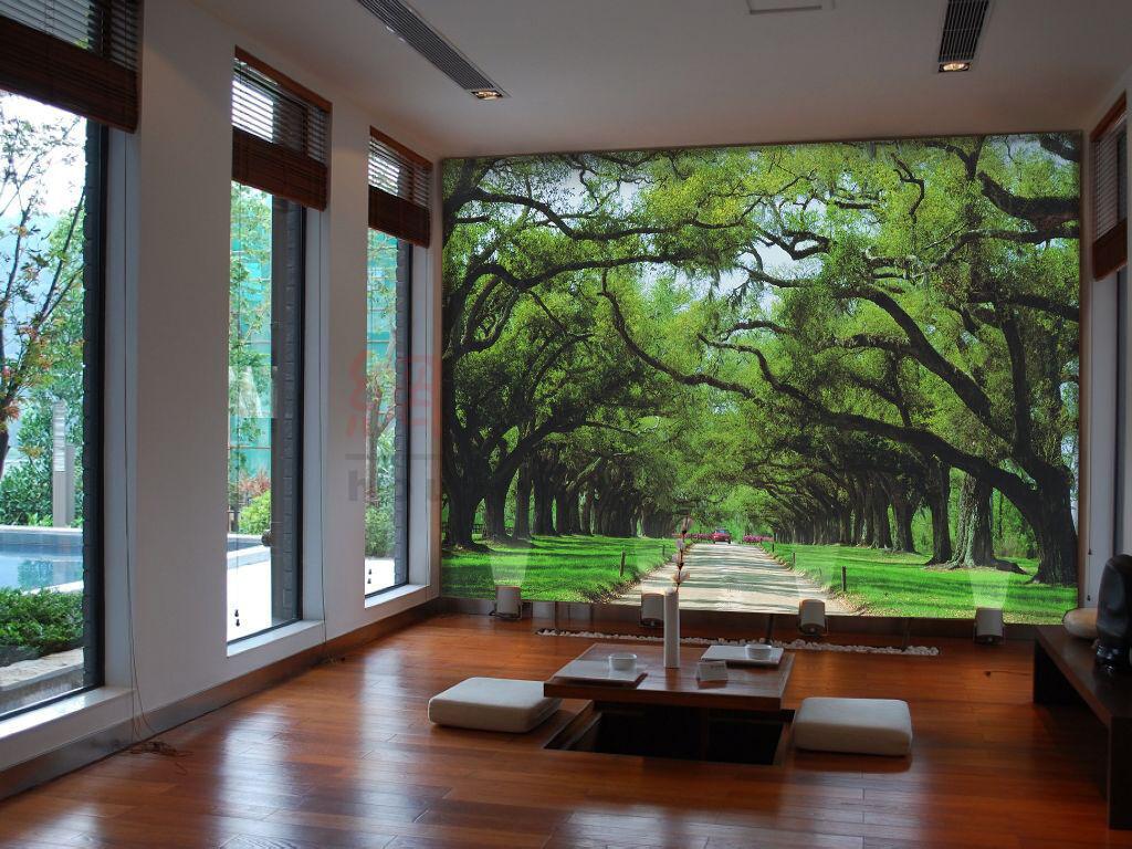 3D Clean Road Grün Tree 714 Wall Paper Wall Print Decal Wall AJ WALLPAPER CA