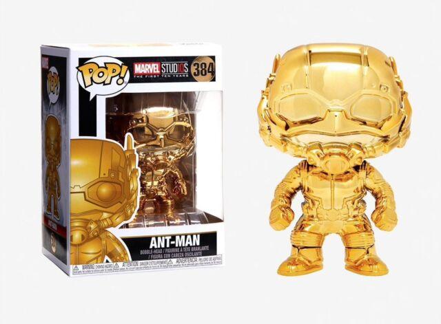 Marvel Studios 10 Ant-Man Gold Chrome Bobblehead Pop! Vinyl Figure