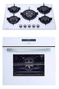 MILLAR-White-70cm-5-Burner-Gas-Hob-amp-9-Functions-Electric-Fan-Oven