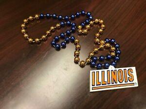 NCAA-Illinois-Illini-Team-Logo-Mardi-Gras-Bead-Necklace