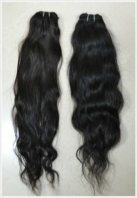 "2 packs 24"" TRUE VIRGIN Remy Human Hair Extensions Russian Natural Wave"
