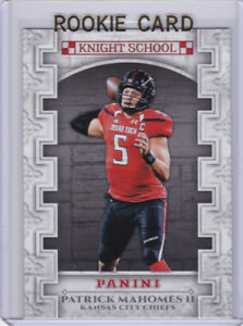 Details About Patrick Mahomes Rookie Card Panini Knight School Insert Rc Football Kc Chiefs