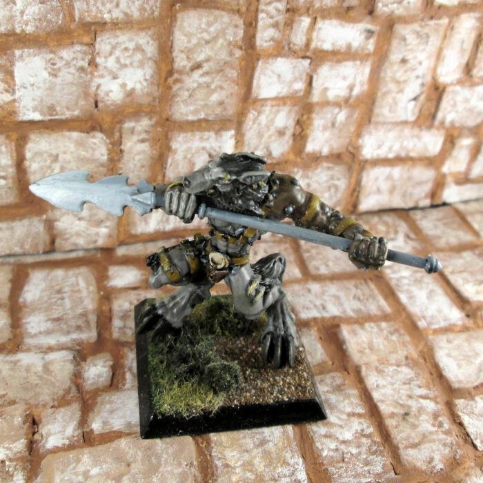 Pintado Wolfen Hunter 1 Metal Confrontation Rackham Hombre Lobo En Miniatura
