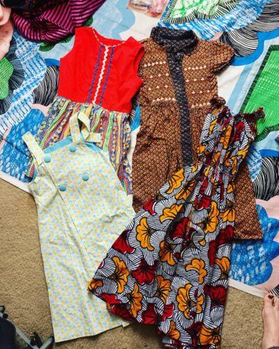 Vintage LOT 1960's Girl's Dresses Medium MOD boho