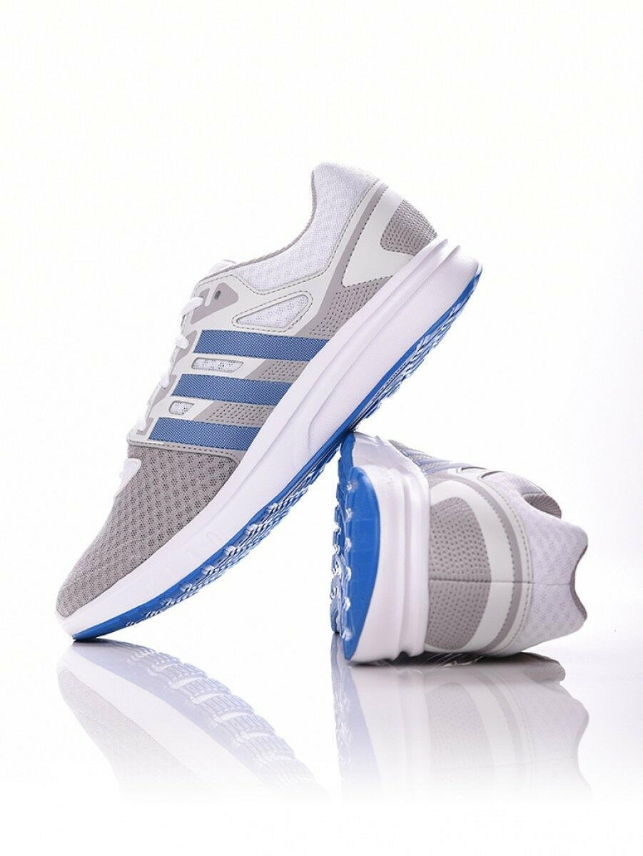 Adidas performance Galaxy 2 mens trainers uk 6 white bluee running tennis gym new