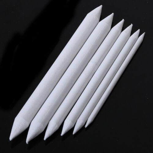 6Pcs Blending Smudge Tortillon Stump Sketch 6 Sizes Art Drawing Tool Pastel