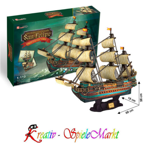 3D Puzzle San Felipe Schiff Spanische Armada 1:110 Cubic Fun