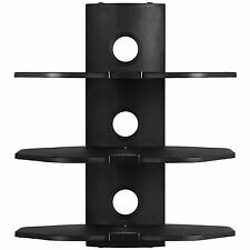 3 Shelf Metal Universal Wall Mount Audio Video DVD PS3 Console Cable Management
