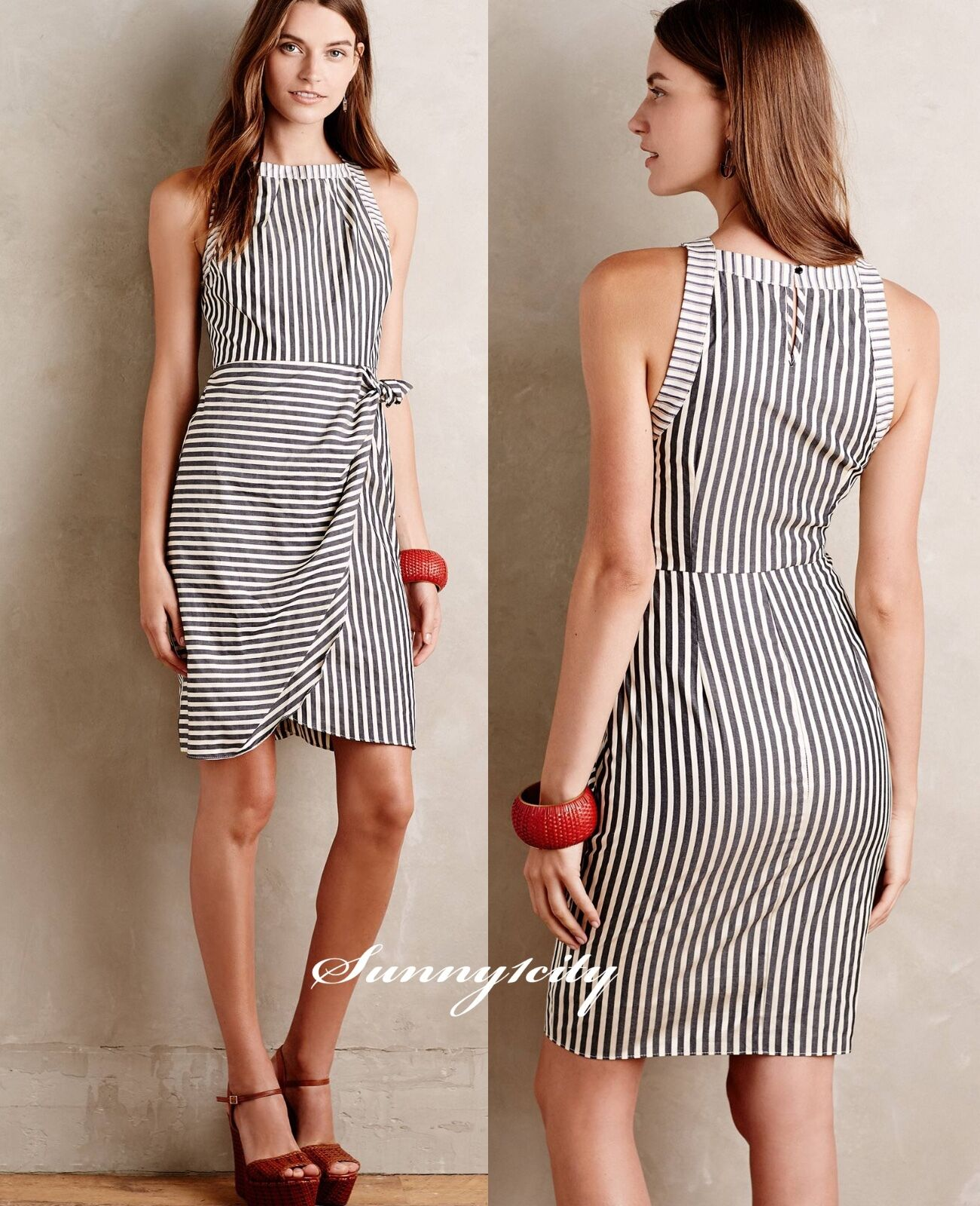 c08c147c1a31 NWT 0 Anthropologie Oakdale Dress by Maeve Simple Elegant Unique made USA  RARE
