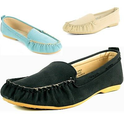 Alpine Swiss Magnolia Womens Moccasin Loafers Suede Lined Ballet Flat Boat Shoes