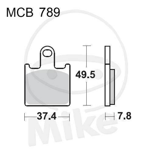 TRW Lucas Pastillas de Freno MCB789CRQ Delant. Kawasaki GTR 1400 ZZR 1400