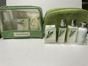 Lot-of-2-Crabtree-amp-Evelyn-Lily-Muguet-Travel-Set-4pc-Hard-to-find-See-Details