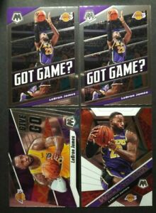 LEBRON-JAMES-2019-20-PANINI-MOSAIC-Lot-4-CARDS-LOS-ANGELES-LAKERS