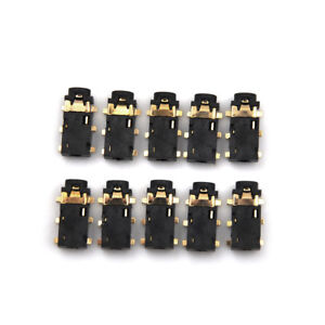 10Pcs-2-5mm-Audio-Connector-Female-6-Pin-SMT-SMD-Stereo-Headphone-Jack-NW