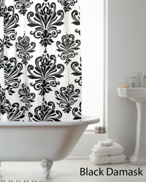 Shower Curtain with Ring Hooks, Designer Bathroom Shower Curtains, 180 x 180 cm