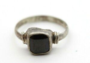 Traditional Design 2.150 Grams Hessonite Garnet Natural Gemstone Ring Silver