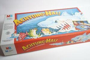 Achtung-Hai-MB-Spiele-1988-alte-Ausgabe-mit-Motor-Action-Spiel-Klassiker