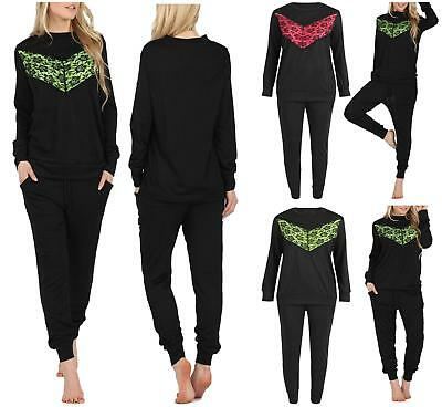 Hingebungsvoll Ladies Sweatshirt Womens Knitted Leggings Pocket Joggers Lounge Wear Tracksuit Online Rabatt