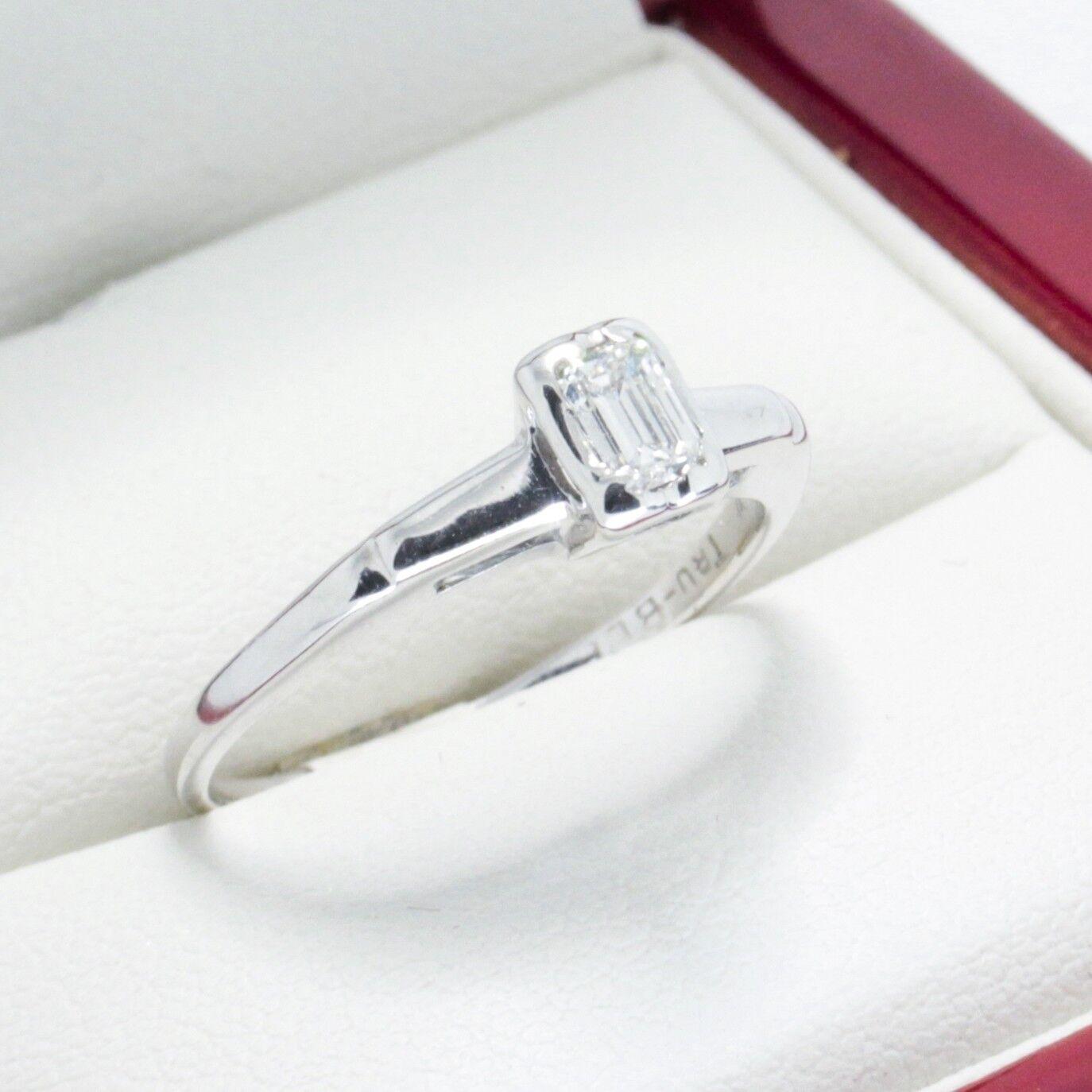 Beautiful Vintage Emerald Cut Diamond Engagement ring, G VS Diamond  inc wedding