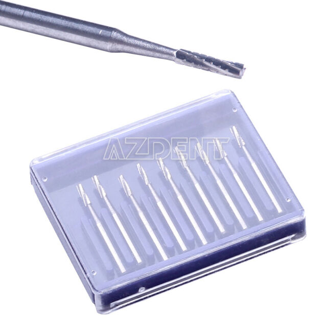CA 1x Dental Fissure Type Carbide Burs Cylinderical Tungsten Steel Burs FG557