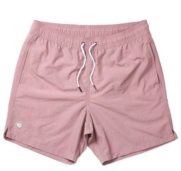 BNWT Pretty Green Dusty Pink Logo Swim Shorts XXL RRP  S8GMU60098789