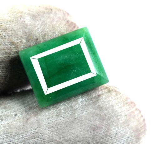 10 Ct Natural Emerald Cut Brazilian Green Emerald Loose Gemstone Birthstone