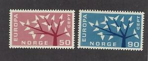 NORWAY - 414 - 415 - MNH AND USED (2 SETS) - 1962 ISSUES - EUROPA