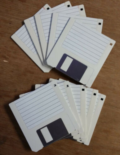 Qty 10 3.5 inch DS//DD Floppy Double Sided Double Density Overlabel Generic