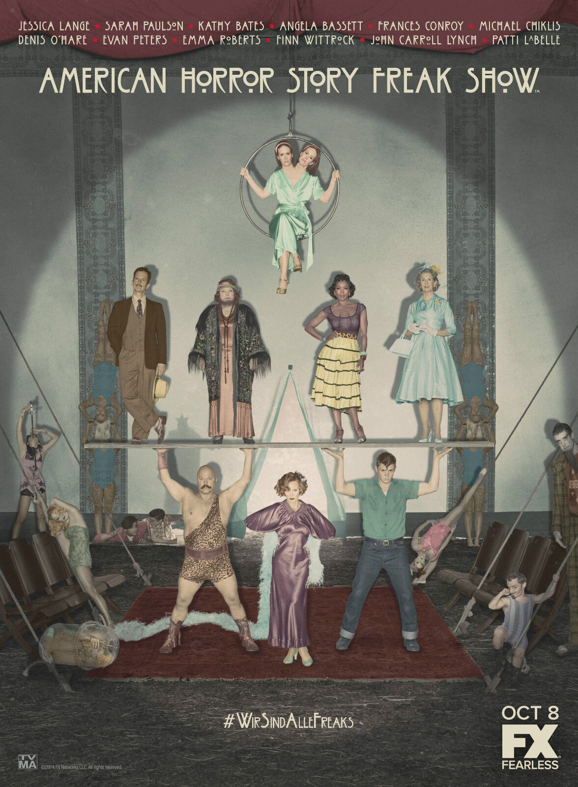 """AMERICAN HORROR STORY COVEN TV Show Silk Fabric Poster 11/""""x15/"""" FX"""