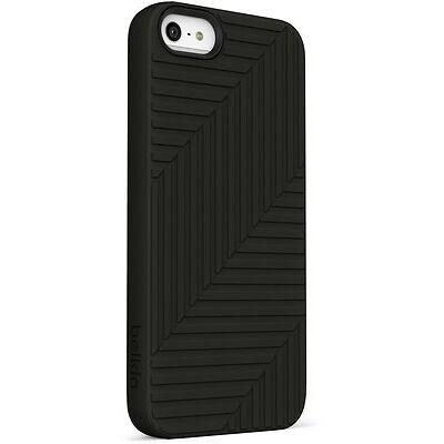 Belkin iPhone 5S 5 & SE Silicone/Rubber Flex Case/Cover/Skin Black/White (Clear)