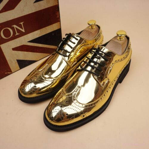 Hot Mens Lace Up Oxfords Casual wing tip loafers Dress Shoes Formal Brogues New