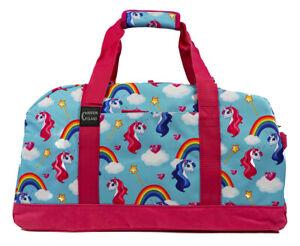 Travel Duffels Floral Unicorn Duffle Bag Luggage Sports Gym for Women /& Men