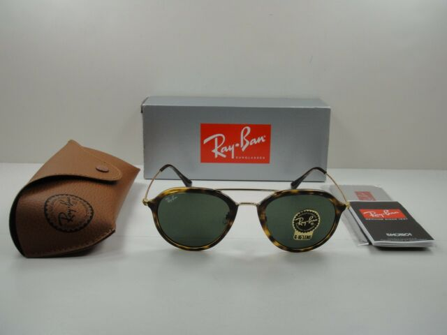 0630339dab0d5 Ray-Ban Sunglasses Rb4253 710 Tortoise and Gold G15 Green Classic Lens 53mm