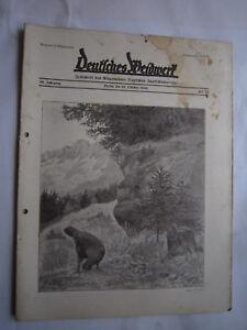 """Jäger & Waidmann Antiquitäten & Kunst Jagdzeitung""""deutsches Weidwerk""""38.jahrgang,heft 20 Von 1933,jagd,jagdhund,pirsch"""