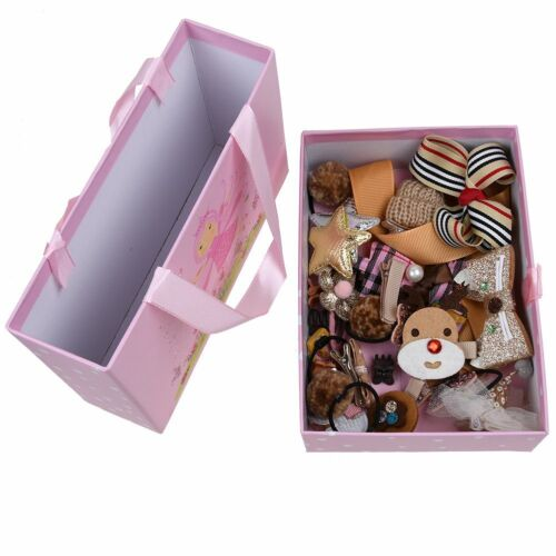 18x Baby Girls Head Wear Bow knot Hair Clip Bands Barrette Hairpin Xmas Gift Box