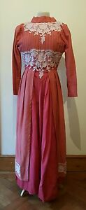 Vintage-Dress-Victorian-Style-Costume-RARE-Downton-Abbey-Style-size-6-8-approx