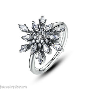 Image Is Loading 925 Sterling Silver Diamond Engagement Rings For Women