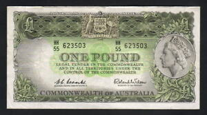 Australia-R-34-1961-One-Pound-Coombs-Wilson-Reserve-Bank-gVF-EF-Crisp