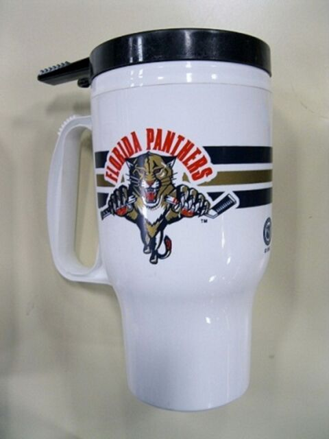 Florida Panthers NHL Hockey 16oz Plastic Travel Mug with self sealing lid