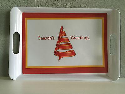 Brand New Melamine Cute Christmas Theme 33cm x 22cm Small Serving Tray