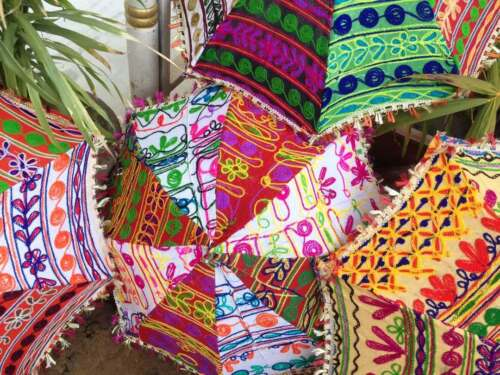 Wholesale lot Handmade Indian Small Umbrellas Embroidered Sun Shade Parasol