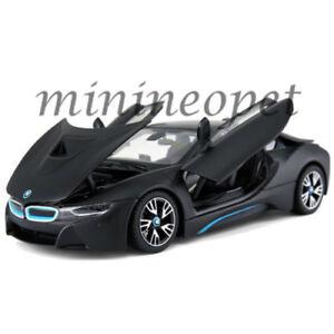 Rastar 56500 Bmw I8 1 24 Diecast Model Car Matte Black Ebay