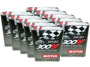20l qt motul 300v 5w30 power racing 100 synthetic engine oil ebay. Black Bedroom Furniture Sets. Home Design Ideas